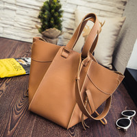 Wholesale Light Gray Handbag - New deformation of the sub-package + fashion trend of large-capacity portable bag lychee pattern handbags (light gray, black, brown)
