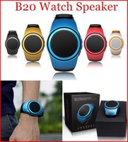 Wholesale Hands Free Watch Phone - B20 Mini Bluetooth Speaker Sport Watch Player Hands Free Smart Watches Speakers for Mobile Phone TF Cards