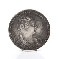 Wholesale Russia Antique - World Coins Russia Dollar 1730 Archaize Russia Coins Brass Silver Plated Crafts Coins