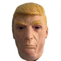 traje donald venda por atacado-US Presidente Trump Máscara De Látex Cabeça Cheia de Donald Trump Máscaras de Borracha Halloween Masquerade Partido Casa Traje Adereços Cosplay Adultos tamanho