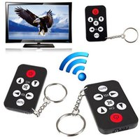 Wholesale 2016 new arrived Mini Universal TV Remote Infrared IR Set Television Control Controller Key Ring Chain