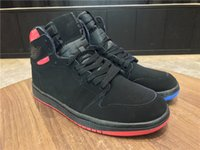 Wholesale Quai 54 - Wholesale New 1 I High OG Quai 54 Black blue red men basketball shoes sports sneakers high Quality size 7-12