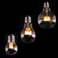 Wholesale E12 Led Globe Bulb - Sliver Mirror,4W 6W 8W,G45 A19 G95 Globe LED Filament Bulb,E12 E14 E26 E27 Base,Warm white 2700K,Dimmable