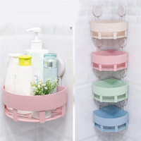 Ventosa de plástico Baño Cocina Corner Storage Rack Organizador Shower Shelf Venta al por mayor 30RH27