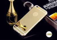 Wholesale Cheapest Iphone For Sale - Cheapest! Mirror Slim Cell Phone Case For iphone 7  7plus Luxury High end Atmosphere Soft SilicoBne Frame Protect Cover 10pcs lot hot sale