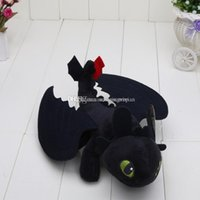 Wholesale Dragon Toothless Plush - 10pcs HOW TO TRAIN YOUR DRAGON plush toys Toothless Night Fury stuffed doll kids Toys approx 23cm
