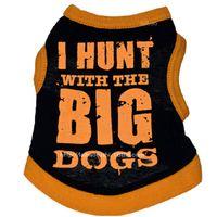 grands vêtements de chien achat en gros de-vêtements pour chiens vêtements pour animaux de compagnie en coton Je chasse avec un gilet mignon pour chiens