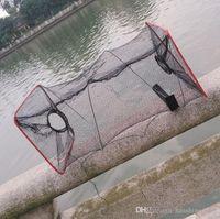 Wholesale Shrimps For Fishing Bait - 2016 New Fishing Trap Net Mesh for Crab Prawn Shrimp Crayfish Lobster Bel Live Bait Pot