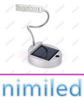 Wholesale Desk Charger - nimi1038 3.7V Solar Led Table Lamp 4 LED Portable Lamps Solar Bulbs Light Indoor Reading Lighting PC USB Charger NEW Solar Desk Lights