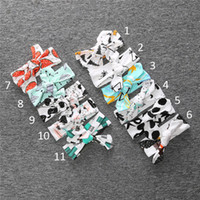 Wholesale Dotted Bowknot - Kids Christmas INS panda fox dot stripe Hair band 11 style new children ins bowknot Headbands baby Hair Accessories B001