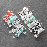 Wholesale Panda Accessories - Kids Christmas INS panda fox dot stripe Hair band 11 style new children ins bowknot Headbands baby Hair Accessories B001
