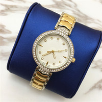 Wholesale Sliver Chain Watch - Hot items Fashion ladies watches Gold Sliver Steel Bracelet Chain Wristwatch Brand female clock classical Special Deisgn Wholesale price