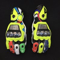 Wholesale Genuine Leather Glove - MotoGP VR46 Valentino Rossi Same Gloves France DAINESE limited edition racing gloves motorcycle Genuine Leather gloves with Alloy protection