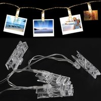 Vente en gros - 4M Clip String Lights Battery Operated Indoor Decorative 30 cordes et cordes de lumière LED pour suspendre des photos Cartes