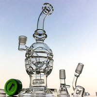 Wholesale Free Cheese - IN STOCK! Grenade Style Glass Bong With Gift swiss cheese perc bongs Faberge Egg dab rigs recycler oil rigs