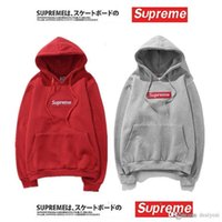 Wholesale Cheapest Coats Jackets - Cheapest Sale supremes Sweater Hip-Pot Supreme Box Logo Pullover Hoodies Supremes Sweatshirt Suprem Red Jacket Coat Size M-XXL