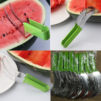 Wholesale melon cutters resale online - Stainless Steel Watermelon Slicer Fruit Melon Cutter Corer Scoop Household Kitchen Tool Utensils Slicy In Stock WX C46