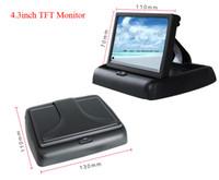 "Wholesale Ntsc Dc 12v - Hot Sale 4.3"" Color TFT LCD Folding Car Monitors DC 12V Foldable Auto Monitor for Car Reverse Camera Monitor"