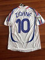 Wholesale Sports Jerseys Italy - Sports jersey 2006 WC final zidane henry ITALY AAA quality retro France last match whole sale