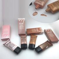Wholesale High Bb - Kylie Born To Glow Liquid High Light Makeup Foundation Kylie Liquid illuminator Cosmetic BB concealer cream 45ml