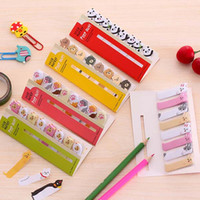 Wholesale memo flags - 10 sets lot Kawaii Cute Post-It Bookmark Marker Memo pad Flags Index Tab Sticky Notes Label Paper Stickers Notepad Writing Supplies
