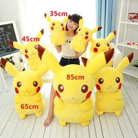 Wholesale Pikachu Plush Doll Christmas - 2016 Poke Pikachu Plush Toys Classic dolls for boy Birthday gifts & christmas gifts free shipping A-0364
