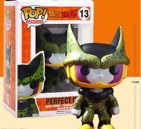 Wholesale Q Cell - New hot sale Q version Funko Pop Dragon Ball Z Cell Boxed PVC Collection 10CM gift for children