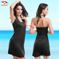 2016 costumi da bagno donna Sexy lingerie bikini camicetta cover-up Halter Dress Europa e in America swimwear Beach skirt spedizione gratuita