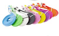 Wholesale Galaxy S1 - 6FT 2M Flat Noddle Micro usb 2.0 Cable 2m data sync charging For Samsung Galaxy S1 S2 S3 I9300 HTC ONE LG MOTOEOLA Blackberry V8 cable