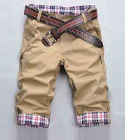 Wholesale mens green sweat pants - New Mens Hip Hop Sweat Pants short jeans Trousers S-XXXL Men Sport Pantalones Pants Man Trousers lace up Capris