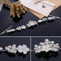 Wholesale Jewel Hair Comb - Charming Crowns Hair Accessory Rhinestone Pearl Jewels Pretty Crown Without Comb Tiara Hairband Bling Bling Wedding Accessories