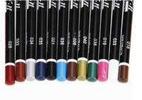 придерживаться n оптовых-Горячая 12 цветов M. N глаз Макияж подводка для глаз карандаш водонепроницаемый бровей красоты pen eye liner губ палочки косметика глаза макияж