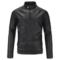 Wholesale Fall England Style Vintage Motorcycle Jackets For Men British Male Leather Motorcycle Jacket Plus Size xl Branding Cloth S1965