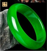 Wholesale Jade Bangles 56mm - 56mm-64mm Natural Grade AAAA Green Jade Bracelet Green Jade Bracelets Lowest Price!!