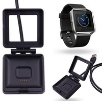 Wholesale Wholesalers Only For Watches - Black USB Power Charger Cable Battery Charging Dock Cradle For Fitbit Blaze Smart Watch charger cables only