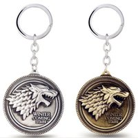 Wholesale White Girls Rock - Game of Thrones Cosplay Stark Cosplay Key Chain House Baratheon House Lannister of Casterly Rock HouseMartell Martel Keychain 2017 retail
