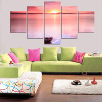 Wholesale sun room panels for sale - 5 Large Canvas Print Painting For Living Room Wall Art Water Under The Sun Picture Gift Decoration Home Picture Unframed