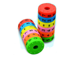 1pc, Magnetic Mathematics Numerals Cylinder Learning Toy