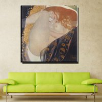 Wholesale Nude Oil Painting Large - ZZ753 Large Gustav Klimt Oil Painting Nude Women Oil Paintings on Canvas Wall Art for Home Decorations canvas wall decor art