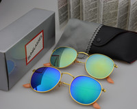 Wholesale clear design cases for sale - Group buy high quality metal frame Round sunglasses women brand design fishing sun glasses uv400 Eyewear oculos de sol feminino with box and cases