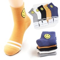 Wholesale Cartoon Faces Socks - 5 Colors available Unisex Emoji Socks Women Cartoon Smile Face Emoticon Casual Sports Art Sock Calcetines Mujer Men Cotton striped Socks