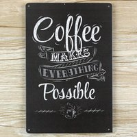 Atacado- NOVO 2015 Coffe poster vintage decoração de interiores metal Tin signs malt placas decorativas para bar wall art craft 20X30CM SP-KF-019