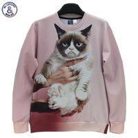 Wholesale Pullover Black Jacket For Men - Hip Hop Animals printed Fashion 3d sweatshirt for men women funny cat panda fox printed 3d hoodies Spring Autumn jacket