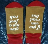 Wholesale Christmas Soccer Socks - If You can read this Bring Me a Glass of Wine Beer Letter Print Stylish Cotton Socks Female Thermal Warm Christmas Socks