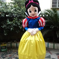 Wholesale Snow White Mascots - New style snow white mascot costume Character Fancy Dress beautiful princess Cartoon costume party fancy dress