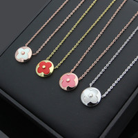 Wholesale White Shell Flower Necklace - 316L Stainless Steel Women Jewelry Elegant white shell Cubic Zirconia necklaces & pendants Jewelry
