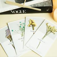 ingrosso carte di fiori secchi-11 Styles coreano fiori secchi biglietti d'auguri per Natale Matrimonio decorazioni per feste di compleanno regalo fai da te a mano inviti card