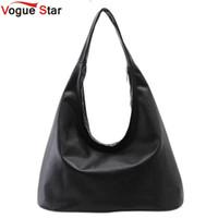 Wholesale Vogue Clutch Wholesale - Wholesale-Vogue Star 2016 new women PU leather handbag black shoulder bag Hobos Designer women handbag bolsa feminina YK40-484