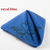 Wholesale Table Napkins For Weddings - Poly Table Napkin For Wedding Decoration 48cm*48cm Good Quality - Royal Blue