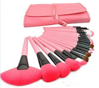 Wholesale Tool Sets For Cheap - By Cheap Price 24Pcs Makeup Brushes Set Cosmetic Kits Makeup Tools Makeup Brush with leather bag brushes make up for you